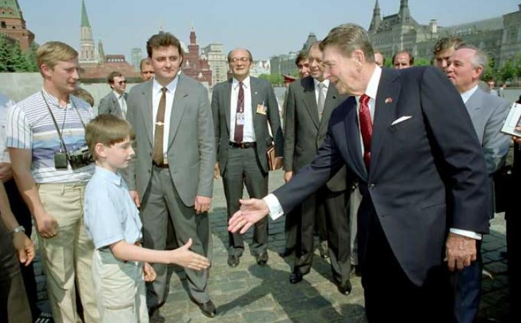 Újra előkerült Putyin állítólagos közös képe Reagannel