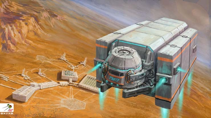 Scenes from the Soviet Union's Martian colony, circa 2061