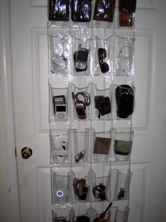 Use a Shoe Organizer To Organize Your Gadgets