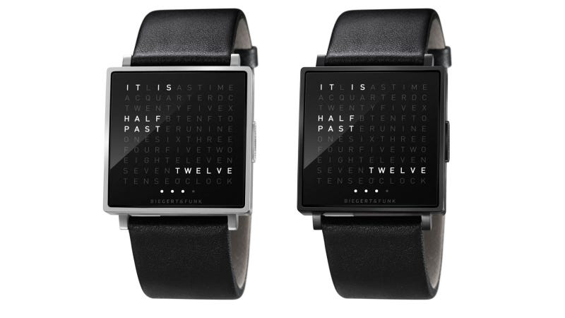 Qlocktwo W Watch Tells Time with a Word Search