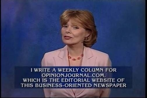 Peggy Noonan Would Like Obama To Stop Scaring Everyone(??)