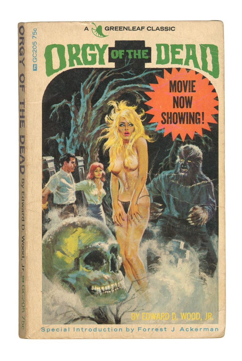 Now you can see the lost erotic fiction of director Ed Wood
