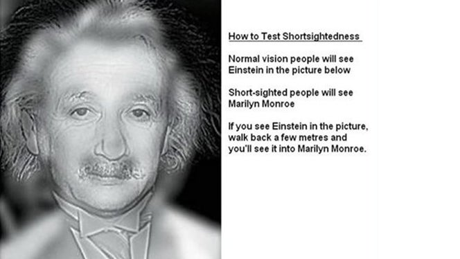 Monroe or Einstein: Check If You Need Glasses at Your Computer