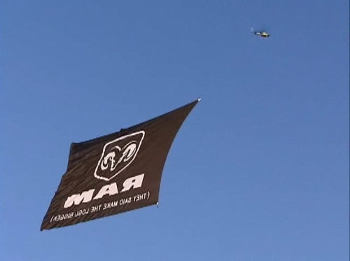 Chrysler Drops World's Largest Aerial Banner, Spooks FAA