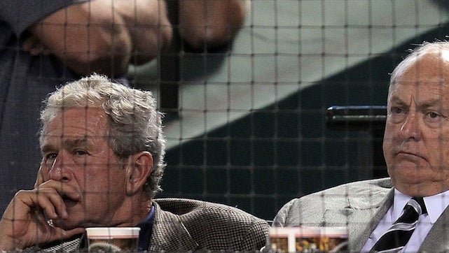 George W. Bush Is A Face In The Crowd