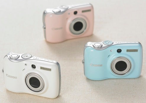 Canon's E1 Digital Camera is Shiny, Curvy, in Baby Pink and Blue