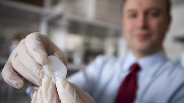 Researchers use a 3D printer to help grow an ear