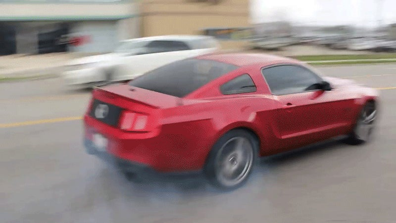 Mustang Crashes Peeling Out Of Cars And Coffee For The Billionth Time