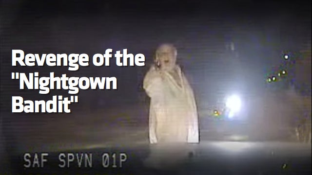 Watch An Old Man In A Nightgown Shoot Up A Speed Camera Truck