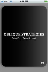 Oblique Strategies on Your iPhone