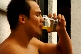 Wait ... Is That Boxer Drinking His Own Urine?