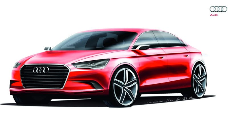 Audi A3 Concept is aluminum und four doors und a hot-ass engine
