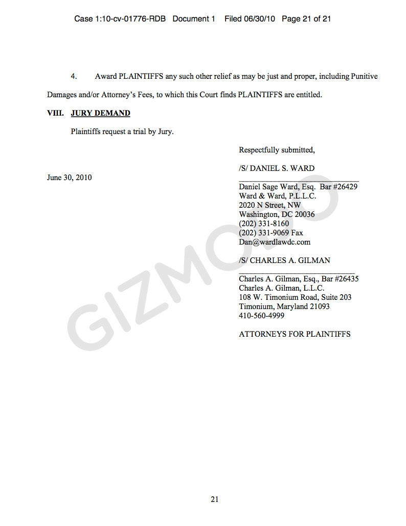 First iPhone 4 Class Action Suit Filed Against Apple and AT&T (Updated)