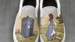 Wear This Amazing <i>Doctor Who/Beauty and the Beast </i>Art on Your Feet