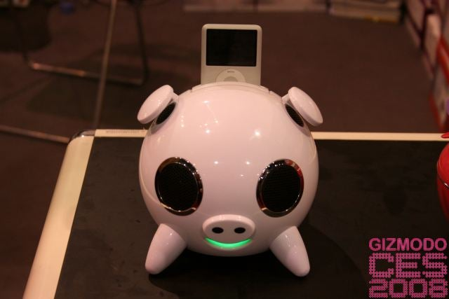 iPig Is a Touch Sensitive Pig iPod Dock