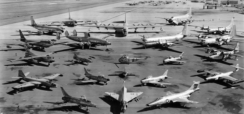 USAF Fleet, 1957 (corrected. Thanks 60's Kid)