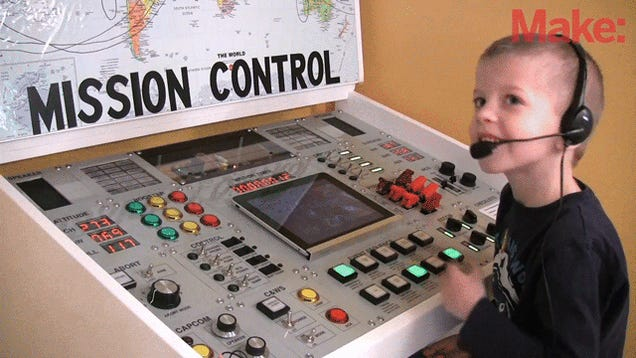 Amazing Dad Builds Elaborate Mission Control Center For His Kid