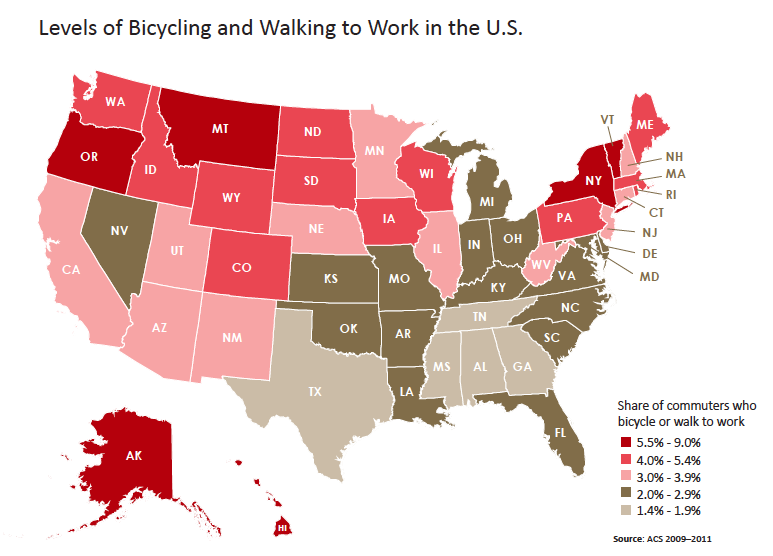 4 Charts That Prove More Americans Are Biking and Walking