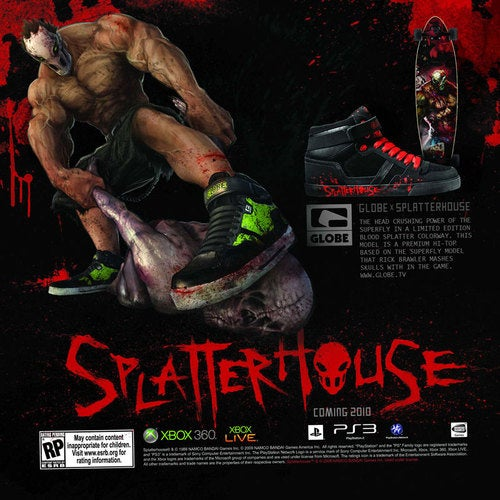 Splatterhouse Gets Appropriately Splattered Shoes