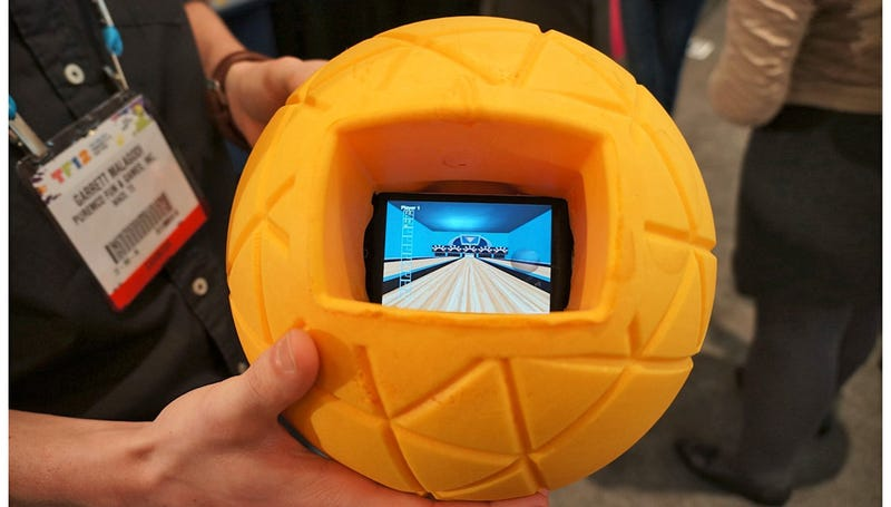 A Giant Foam Ball Makes It Safe To Roll and Throw Your Phone