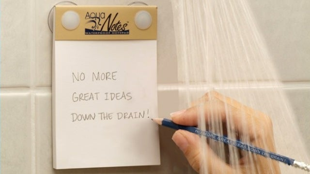 AquaNotes Waterproof Notepad Captures the Great Ideas You Get in the Shower