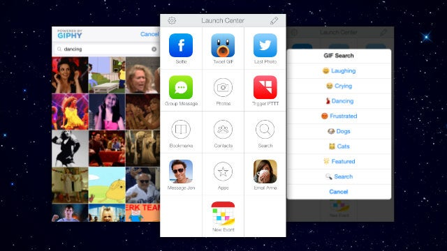 Launch Center Pro Adds IFTTT Integration, GIF Sharing, and More
