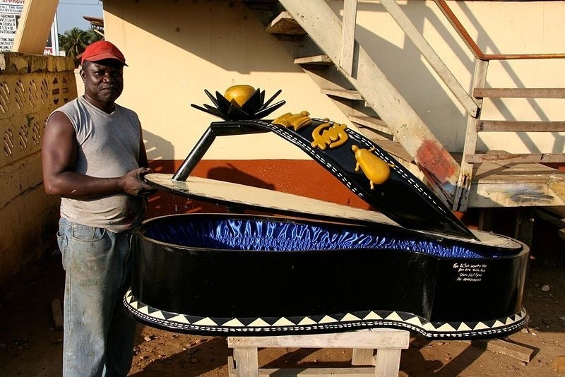Ghana's coffin art lets people bury their loved ones in style