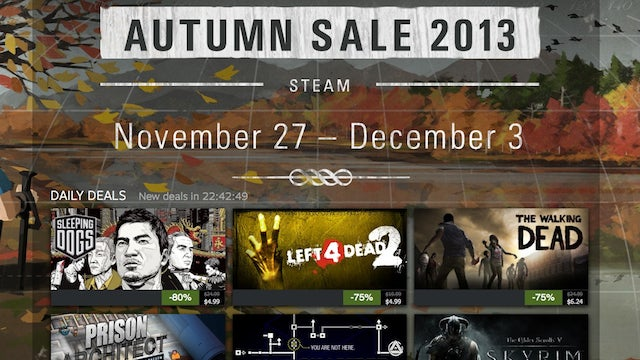 Steam's Autumn Sale Is On, Now Through December 3rd