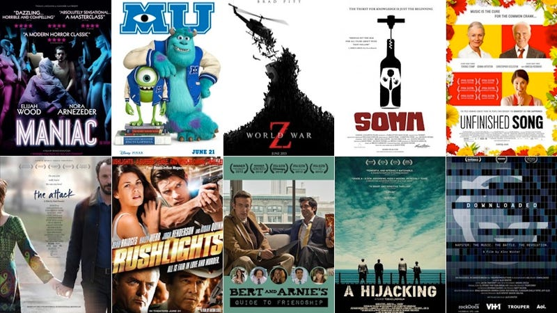 The Week in Movies: Monsters University, World War Z, and Maniac