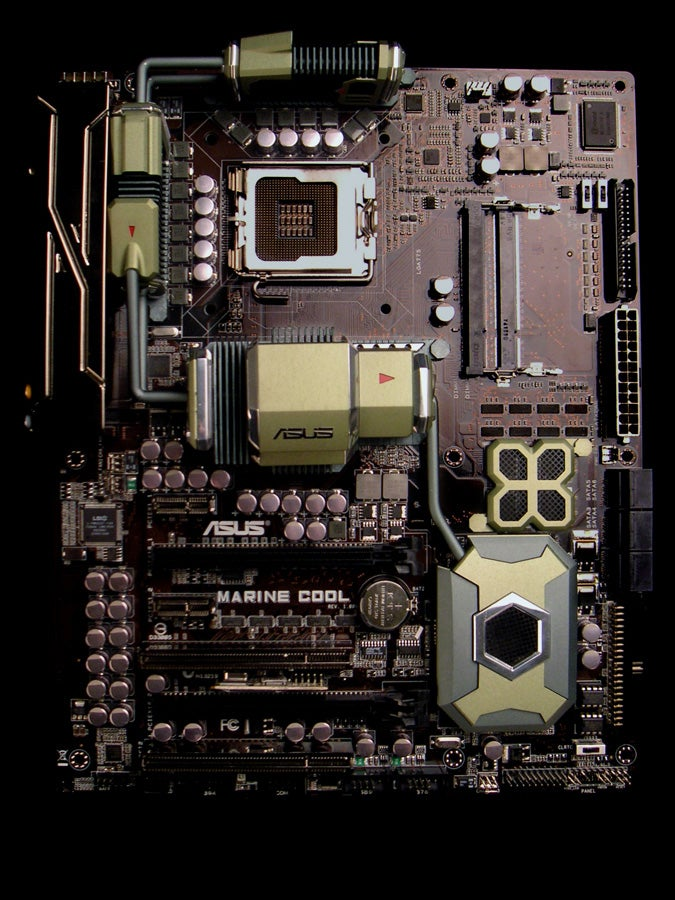Asus Marine Cool Motherboard Fights Heat with Ceramic Plates