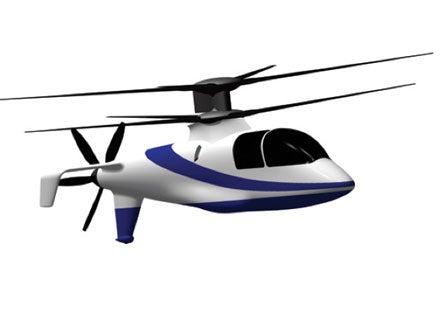 Sikorsky X2 Sleek Triple Blade Helicopter