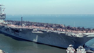 The Time When Two Super Carriers Became Floating Army Helicopter Bases