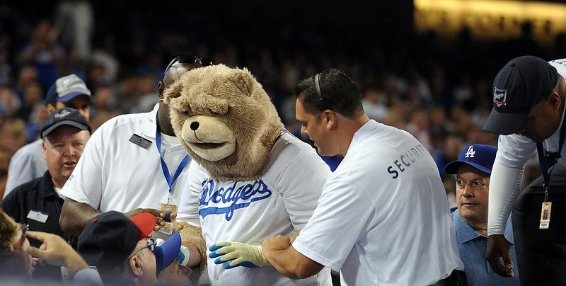 The Ballad Of The Fake Dodgers Bear Mascot