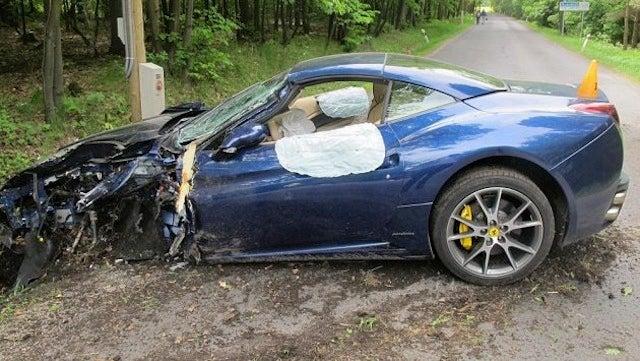 Jakub Voracek Smashed Up His Ferrari