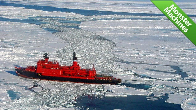 The Soviet Ship That Cuts Through Ice Like a Nuclear-Powered Knife Through Butter