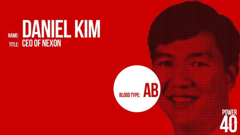 ↓ 25. Daniel Kim, CEO of Nexon