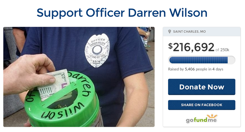 GoFundMe Shuts Down Comments on Darren Wilson Support Page
