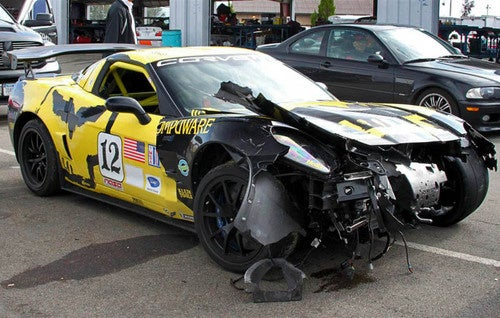 Corvette ZR1 Race Car Crashes At Watkins Glen