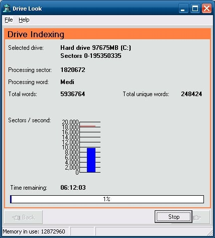 DriveLook Recovers Text Data from Missing Files