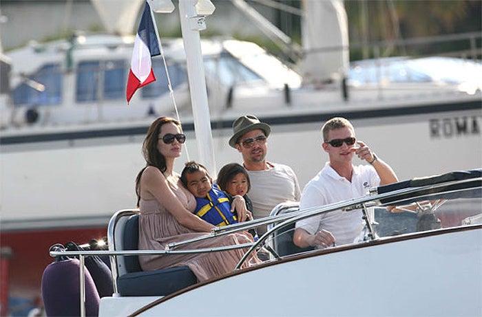 Ahoy! Brangelina & Boys Aboard A Boat