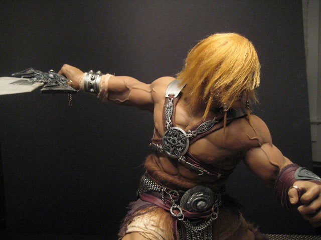 Artist builds beautiful He-Man sculpture with biceps the size of honey baked hams