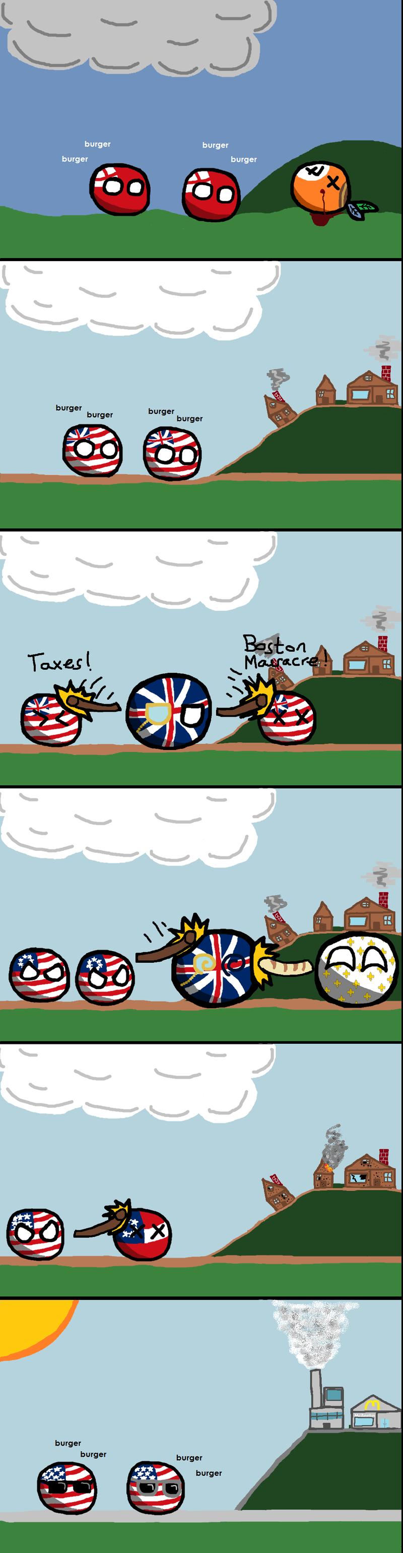Daily Polandball: A brief history of the United States.