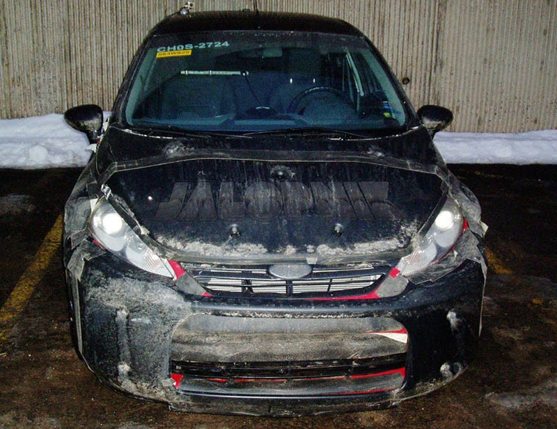 2011 Ford Fiesta Spied In Frozen North With US-Spec Nose