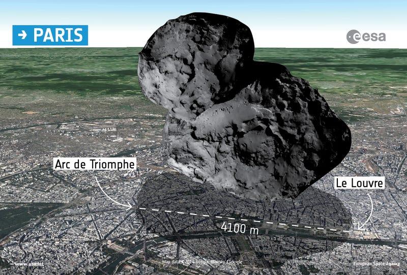 Rosetta's Comet Looks Even Weirder When It's Backlit By the Sun