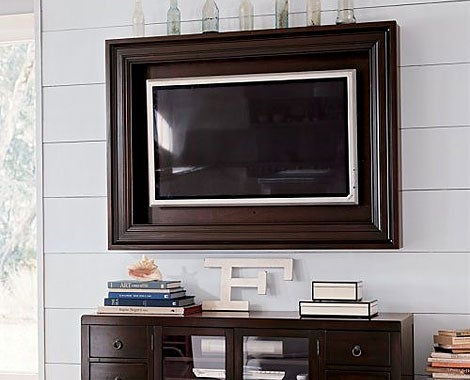 pottery barn tv frame 2