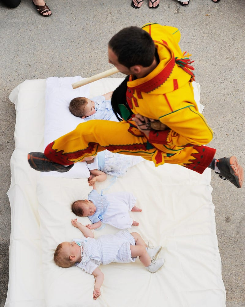 Baby-Jumping Festival Cleanses Babies of Sin
