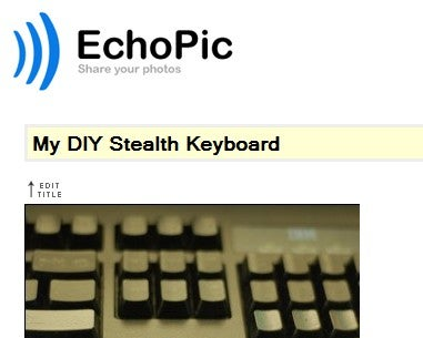 EchoPic is a Dead Simple Picture Sharing Site