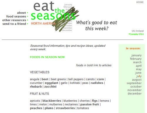Eat the Seasons Tells You What's in Season Now