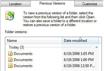 Windows Vista Beta Rave: Built-in file versioning