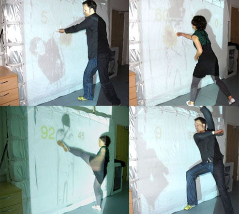 Giant Wall Shadow Boxing Game Looks Insanely, Humiliatingly Fun
